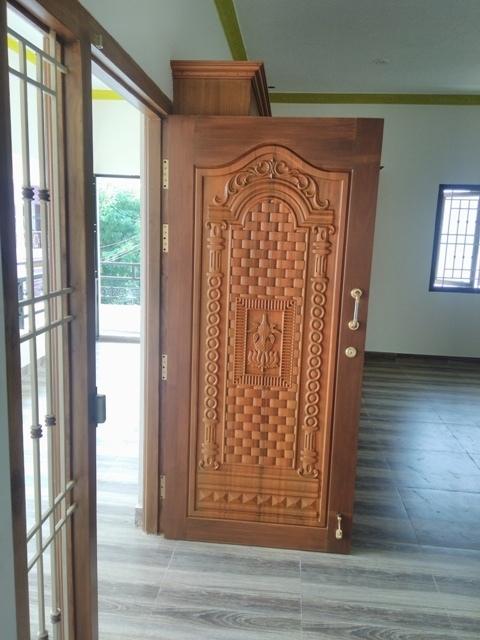 Main-Door-Wood-Work & Furnishing u0026 Interior Design - Buliding Constructions Madurai ...